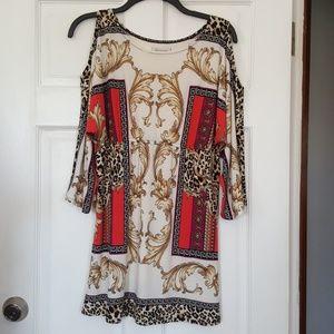 Boston Proper cold shoulder dress